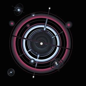 Futuristic orbiting surveillance technology with antennae