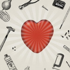 Tools and remedies surrounding glowing heart