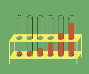 Liquids in test tubes