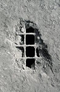 Grid appearing under concrete