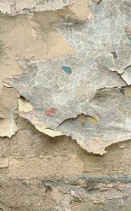 Wallpaper dissolving from wall