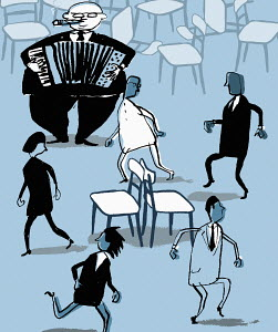 Business people have to play musical chairs