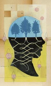 Trees growing inside head
