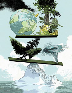 Collage on global warming