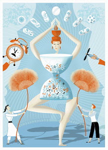Ballet dancer with body clock