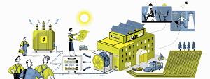 Energy efficiency collage