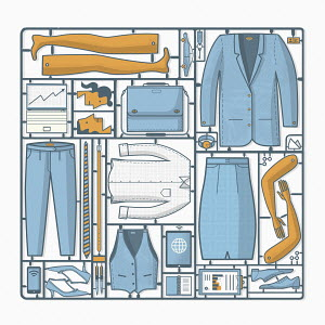 Businessman and businesswoman assembly kit