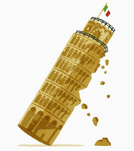 Leaning Tower of Pisa falling down