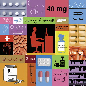 Prescription drugs collage