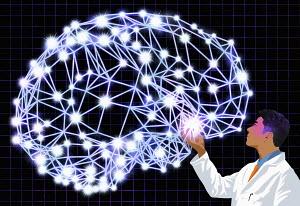 Doctor examining brain signals