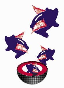 Piggy banks hatching