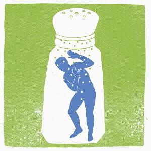 Man trapped inside salt shaker