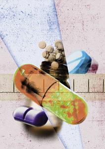 Assorted prescription pills