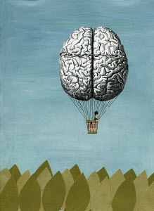 Brain hot-air balloon