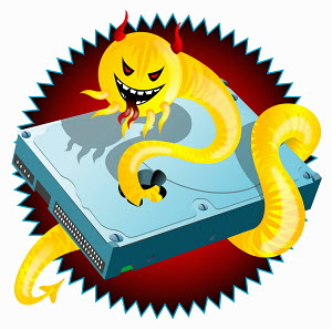 Creature destroying hard disk