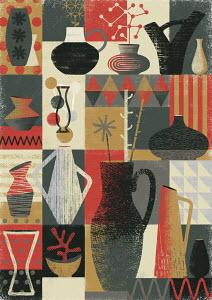 Retro vase pattern