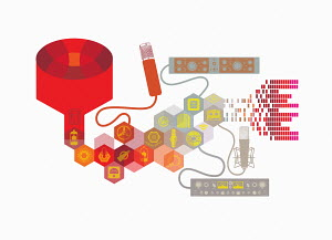 Symbols and control panels for sound recording equipment