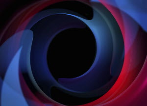 Black hole in centre of abstract swirl pattern