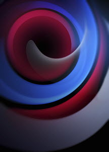 Abstract backgrounds pattern of smooth blue and red swirls