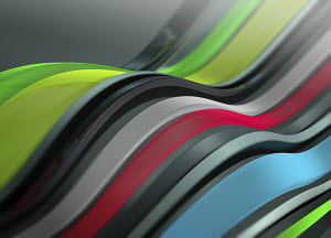 Abstract backgrounds pattern of flowing multicoloured stripes