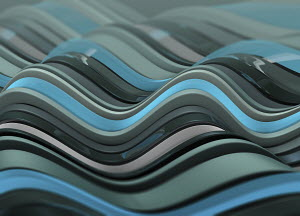 Abstract backgrounds stripes in blue and grey wave pattern