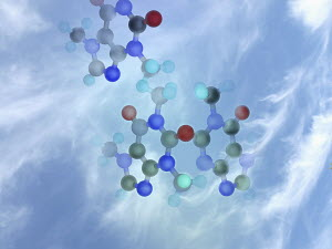 Molecular structure in sky