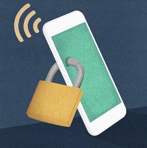 Padlocked smart phone