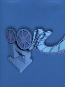 Film projector in paper art