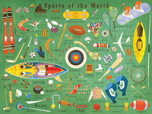 Illustration of lots of sports from around the world