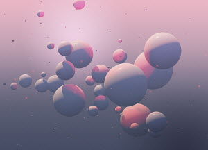 Abstract backgrounds pattern of pink spheres