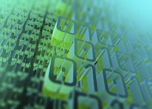 Layers of three dimensional binary code pattern