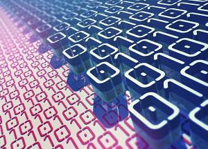 Layers of binary code pattern