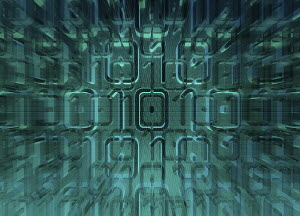 Exploding binary code pattern