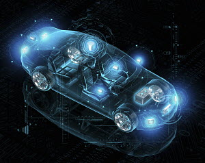 Computer design for electric driverless car
