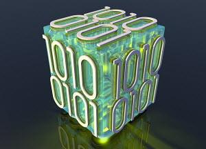 Single block of binary code data