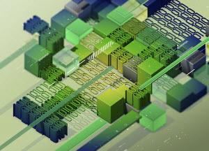 Computer programming and blocks of binary code data