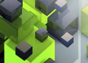 Abstract backgrounds pattern of shiny cubes