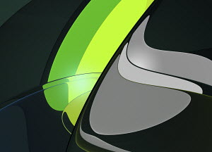 Abstract backgrounds pattern of curved shapes