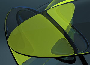 Fluorescent green abstract pattern