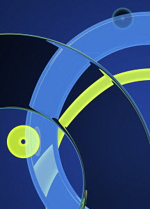 Close up abstract pattern of overlapping circles
