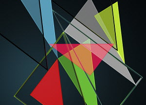 Multi coloured triangles in abstract backgrounds pattern