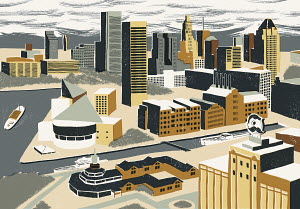 Illustration of Inner Harbor, Baltimore