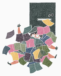 Woman swamped by junk mail
