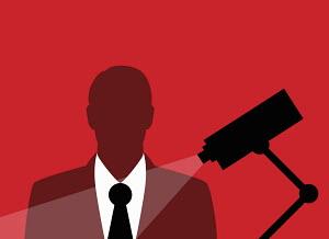 Businessman captured in security cameras