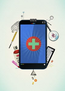 Smart phone as multi tool for accessing healthcare and medicine