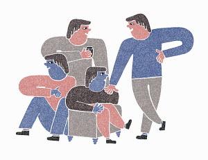 Men enjoying socialising together