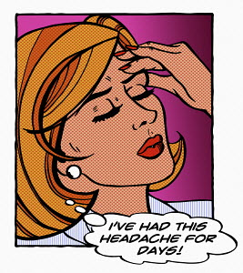 Close up of woman with persistent headache