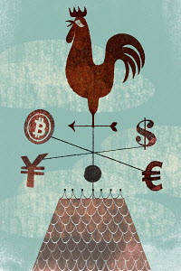 Global finance weather vane