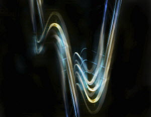 Abstract wavy light trails
