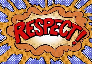 Respect exploding speech bubble